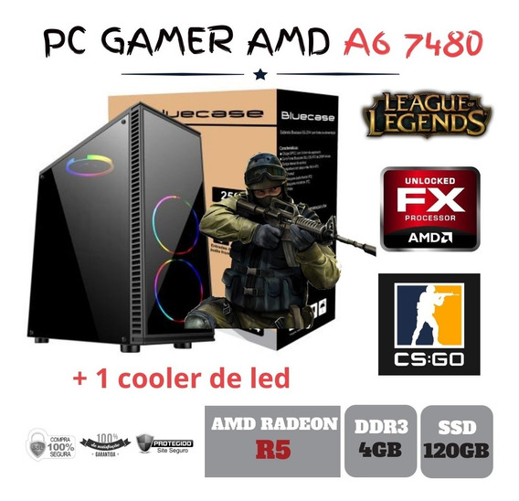Cpu Gamer Amd A6 7480 4gb Ssd120gb Radeon R5 Integrada