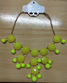 Fashion Colar Pedras Amarela