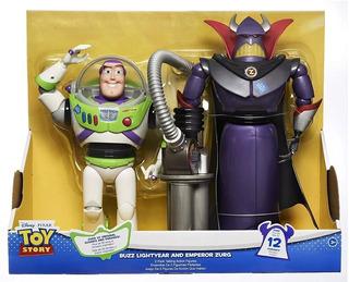 Toy Story Figuras Buzz Lightyear Y Emperador Zurg 35 Cm
