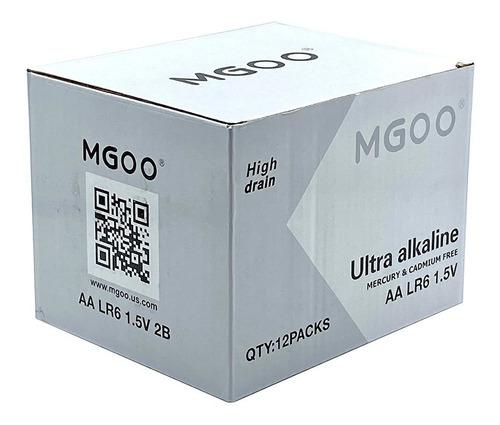 Caja De 12 Blister Bateria Pila Ultra Alkalina Mgoo Aa 1.5v