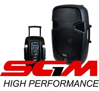 Sgm1 Zebra Caja Amplificada Dzl B1545mbt 600w Portatil 2 Mic