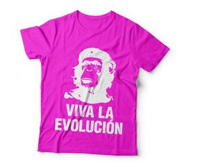 Camiseta Camisa Viva La Evolución Che Macaco Várias Cores