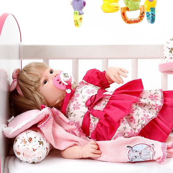 Boneca Bebe Reborn Menina Diandra Chloe Floral Cegonha Dolls