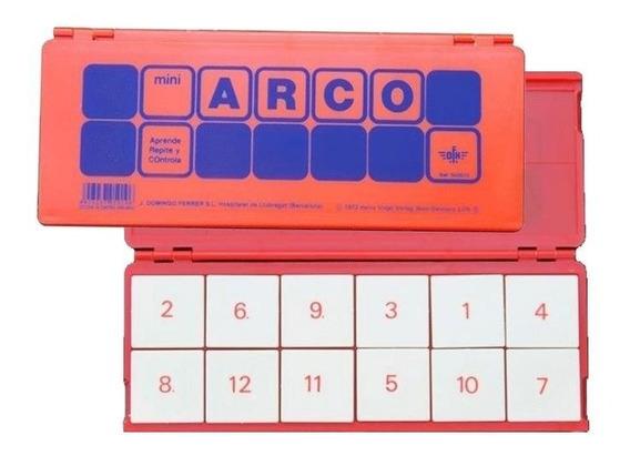 1020000 Estuche De Control Naranja 12 Fichas Mini Arco Eduke