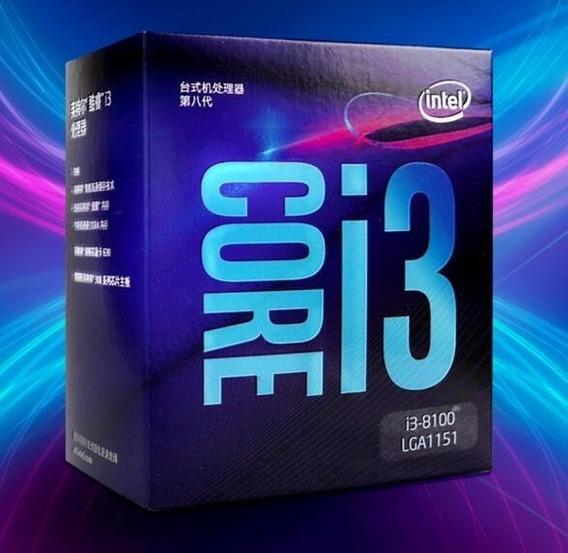 Processador Intel® Core I3-8100 6m De Cache, 3,60 Ghz