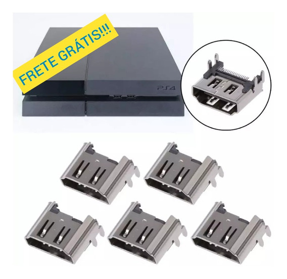 12 X Conector Entrada Hdmi Sony Ps4 Fat 100% Nova No Blister