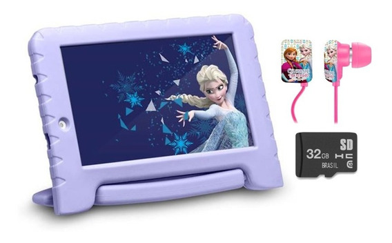 Tablet Frozen Wifi 16gb Android 8 Cartão 32gb Fone Outlet