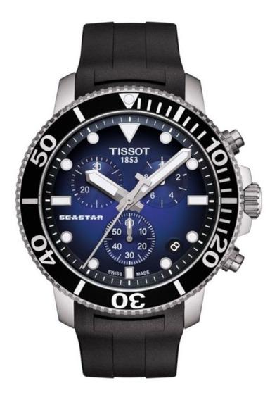 Relógio Tissot Seastar 1000 Automatico Mostrador Azul