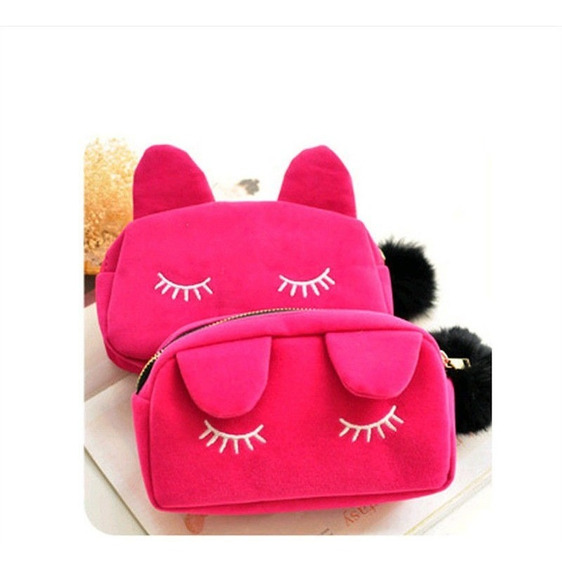 6 Bolsos Cosmetiqueras / Lapiceras Cat Gatito Varios Colores