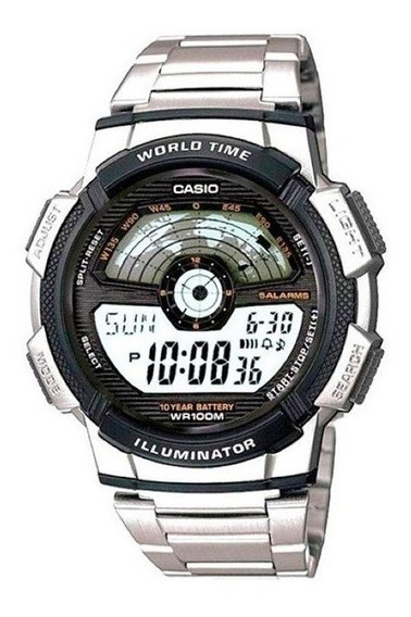 Relógio Casio Masculino World Time Ae1100wd1avdfu