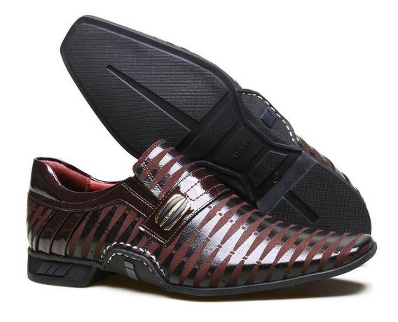 Sapato Social Couro Nobuck Textura Costuras Manuais Calvest