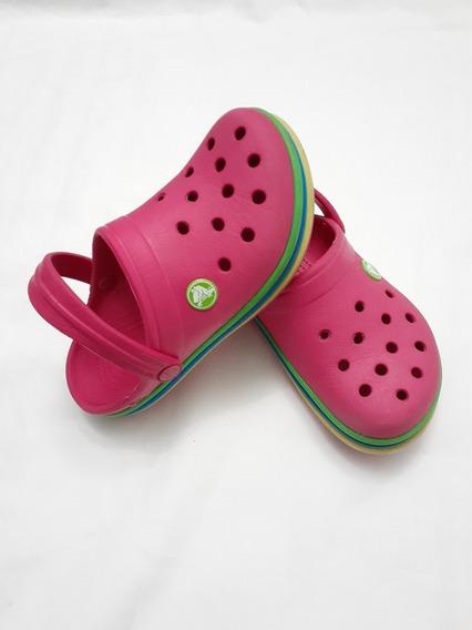 Crocs Originales Crocband Rainbow Niñas 12-13