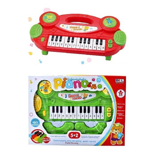 Piano Teclado Infantil Luz Multi Funções Brinquedo Educativo