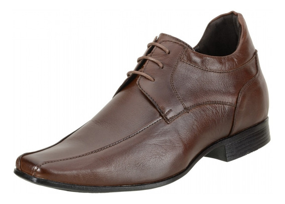 Sapato Social Masculino Dududias 6 Cm + Alto Couro - 6502