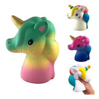 Squishy Unicornio Color Kawaii Muñeco Silicona Anti Estres