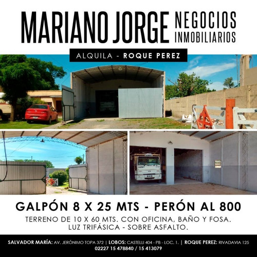 Galpon 200 M2 Con Oficina - Roque Pérez