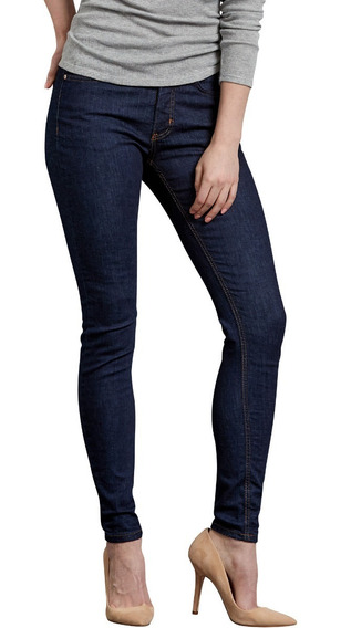Dickies Fd145 Pantalón Mezclilla Stretch Skinny De Mujer