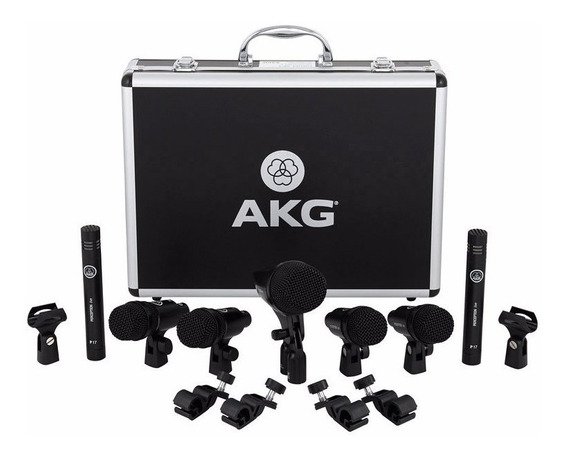 Kit De Microfones Akg Drum Set Session 1 P/ Bateria Original