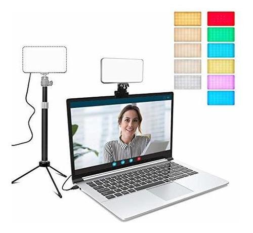 Imagen 1 de 7 de Iluminación De Videoconferencia Con Trípode Ajustable Y Clip