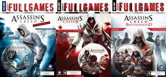 Assassins Creed 1, 2 E Brotherhood Fullgames