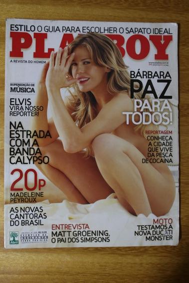 Revista Playboy - Ed. 388 09/2007 - Bárbara Paz