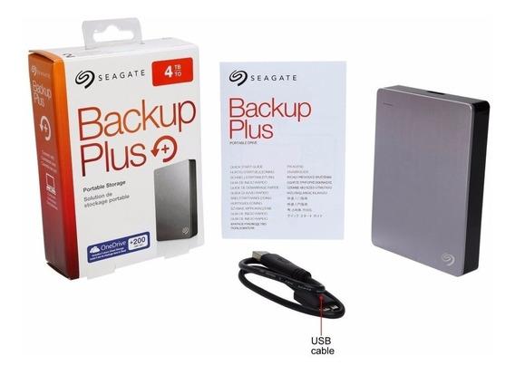 Hd Externo De 4tb Seagate Backup Plus Sthp4000401 Usb 3.0