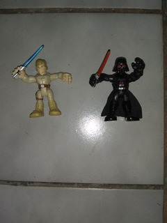 Muñecos Star Wars (lote X 2) Darth Vader Y Luke Skywalker