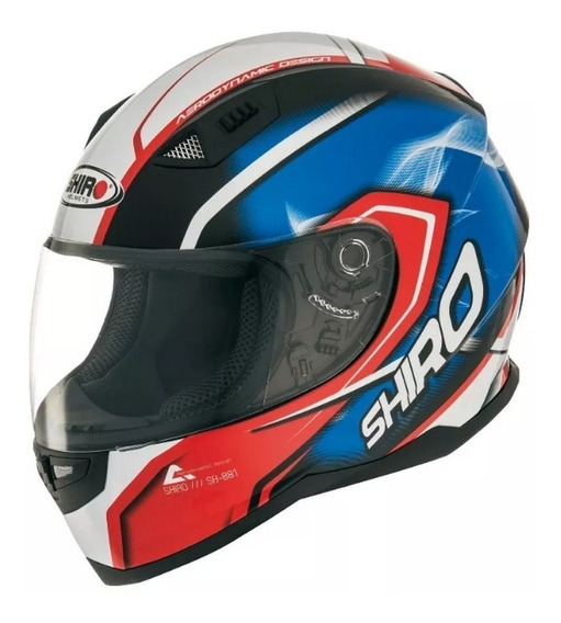 Casco Integral Moto Shiro Sh 881 Motegi Blue Red Yuhmak