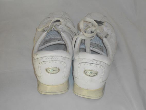 Zapatillas De Cuero Blancas Ladystork T 37