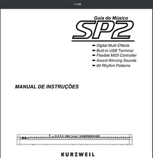 Manual Kurzweil Sp2 no Mercado Livre Brasil