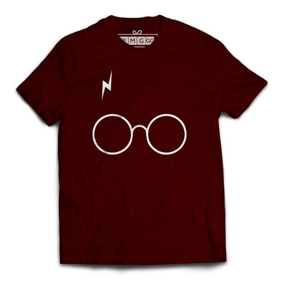 Camiseta Camisa Harry Potter Oculos Magia Bruxo Minimalista