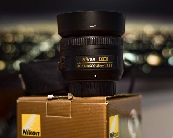 Lente Nikon Nikkor 35mm F/1.8g Af-s Dx