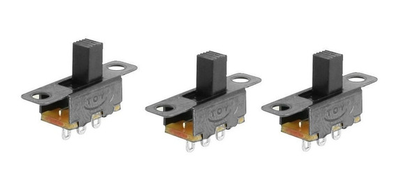 4 Pçs Mini Micro Chave Liga Desliga 2 Posições 3 Terminais