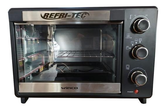 Horno Electrico Winco W23 23 Litros Con Asadera Premium