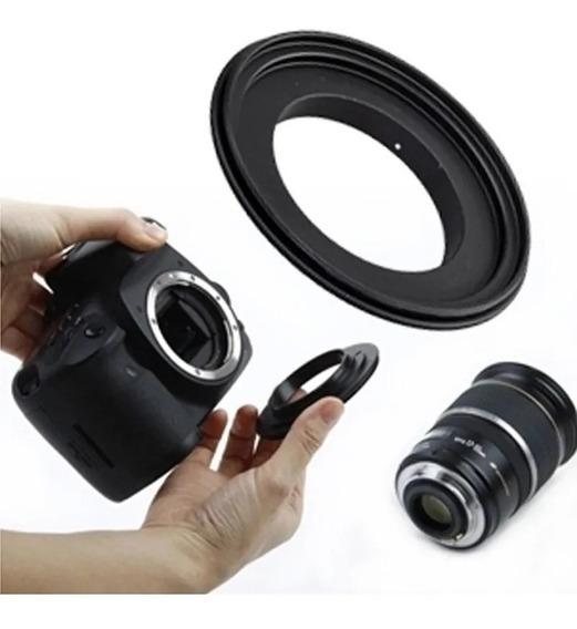Anel Inversor Macro Reverso Sony Minolta 49mm 52 55 58 62mm