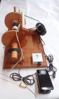 Máquina Hilar Lana, Hiladora Eléctrica Modelo Artesanal