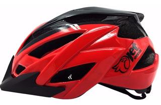 Capacete Bike Ciclismo Mtb Jet Hornet Vermelho Preto M 55-58