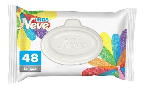 Imagem 1 de 3 de Lenço Umedecido Neve Wipes Kids - 48 Lenços