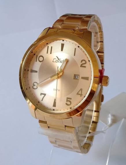 Relógio Condor Masculino Dourado Co215vh/4c