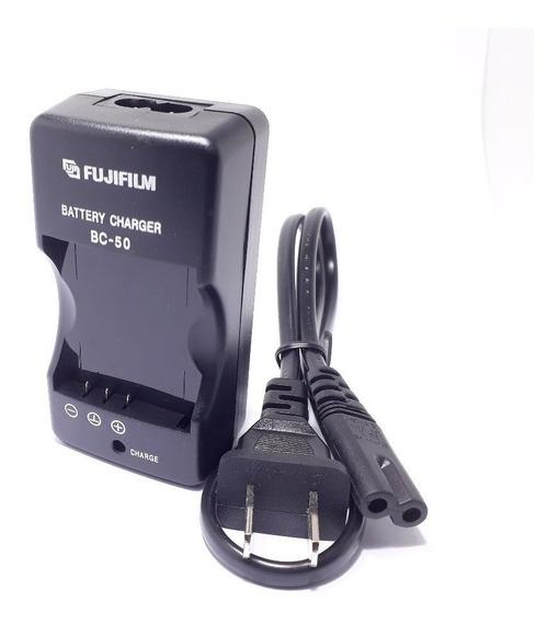 1 Carregador 2 Bateria Original Câmera Fujifilm Bc-50 - Np50