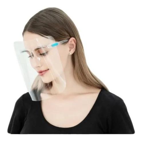 Imagen 1 de 2 de Careta Protectora Facial Soporte Lentes 10pz