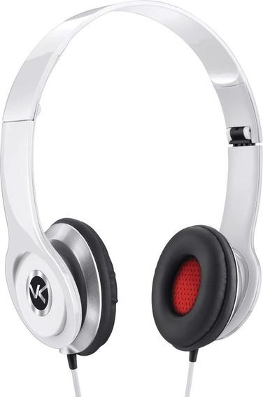 Fone De Ouvido Headphone V-bass V1 Branco