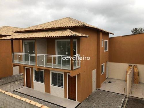 Imagem 1 de 24 de Casa Com 2 Dormitórios À Venda, 56 M² Por R$ 230.000,00 - Jardim Atlântico Central (itaipuaçu) - Maricá/rj - Ca4844