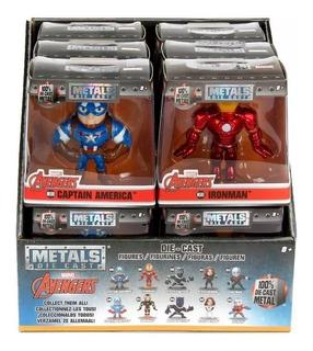 Figura Metals Marvel 7cm Ironman Capitan Widow Black Panther