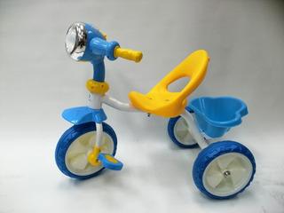 Triciclo Maxtoys Niño Niña Acero Reforzado Llantas Goma Luz