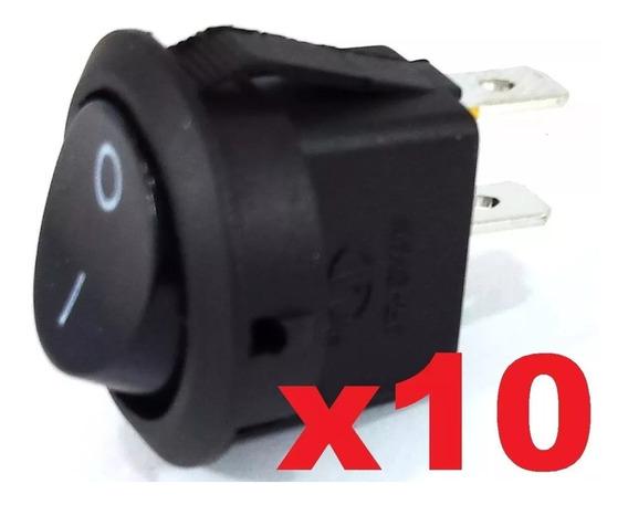 Chave Tic Tac De Plastico 2 Polos Redonda Preto Pct Com 10