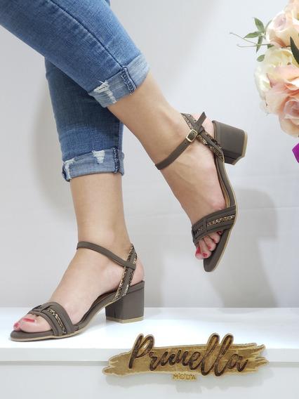 Sandalias Dama Zapatillas Mujer Tacon Casuales 13 /z
