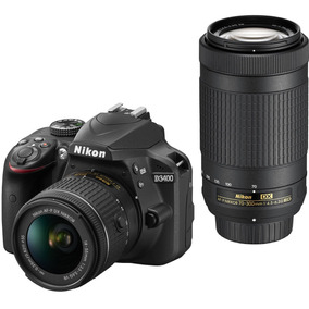 Nikon D3400 Lentes 18-55 + 70-300