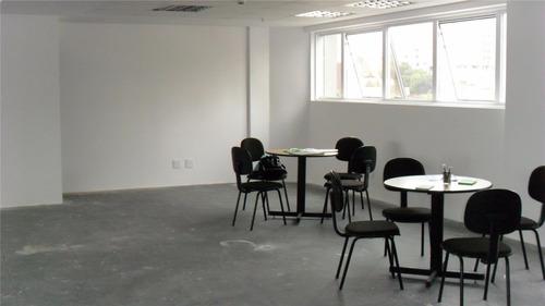 Excelente Sala Comercial Para Locação, 93 M² , 2 Vagas - Vila Bastos - Santo André/ Sp  - 69556
