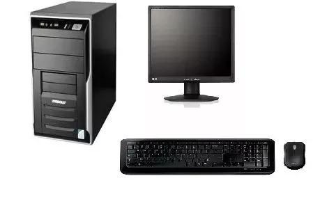 Imagem 1 de 1 de Cpu Completa Core 2 Duo / 4gb / Hd 250 / Monitor 17